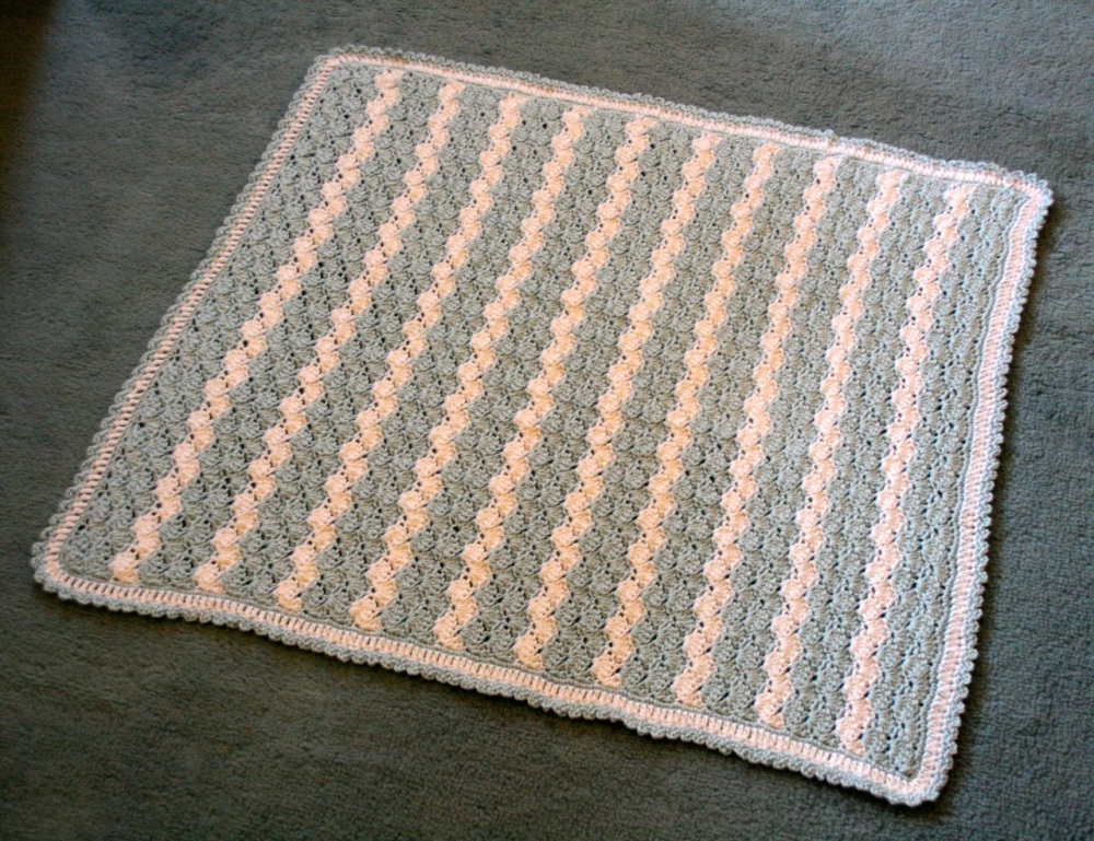 Shell Stitch Baby Blanket (1/6)