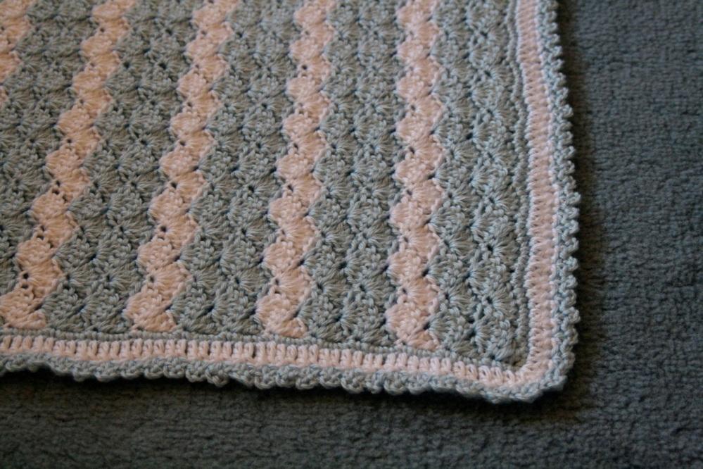 Shell Stitch Baby Blanket (3/6)
