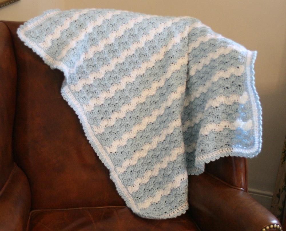 Shell Stitch Baby Blanket (2/6)