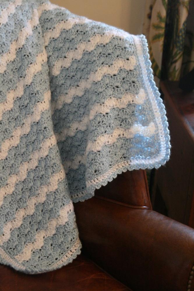 Shell Stitch Baby Blanket (5/6)