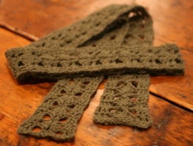 Angora Skinny Scarf No Needle Knitting