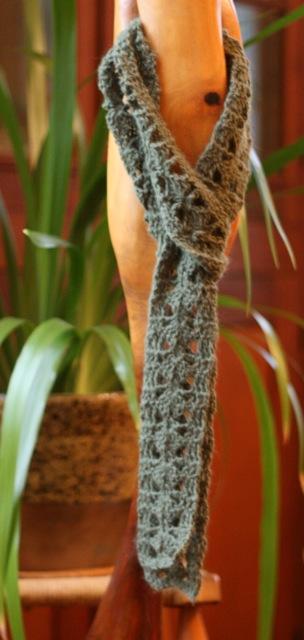 Angora Skinny Scarf (3/5)