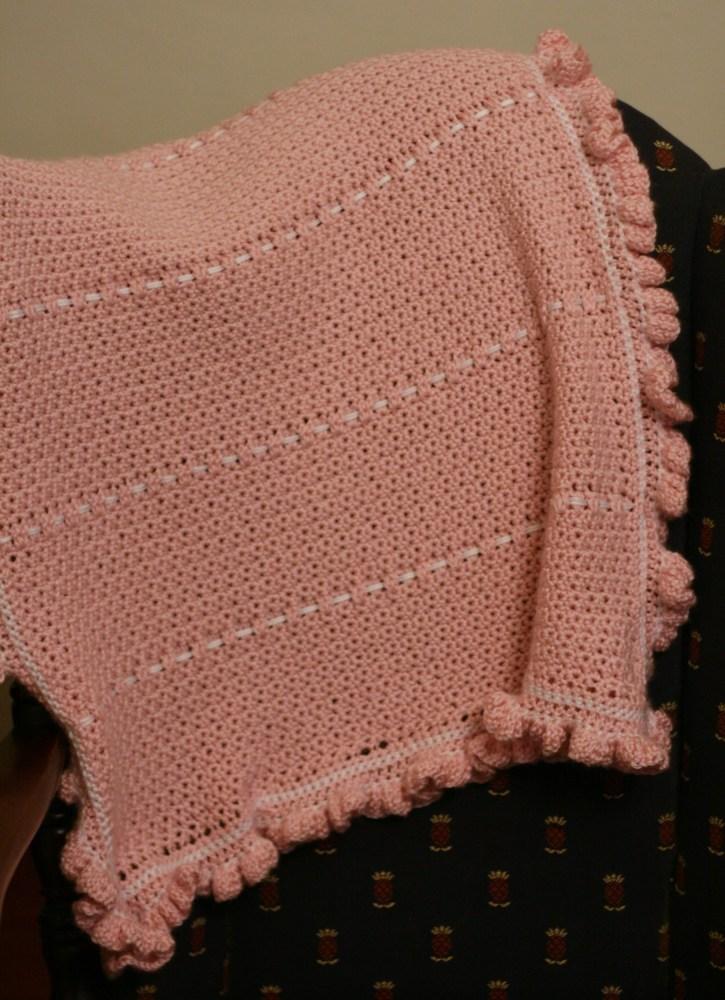 Pink Ruffle Baby Blanket (1/2)