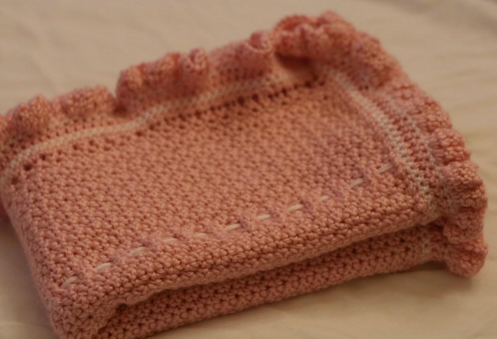 Pink Ruffle Baby Blanket (2/2)