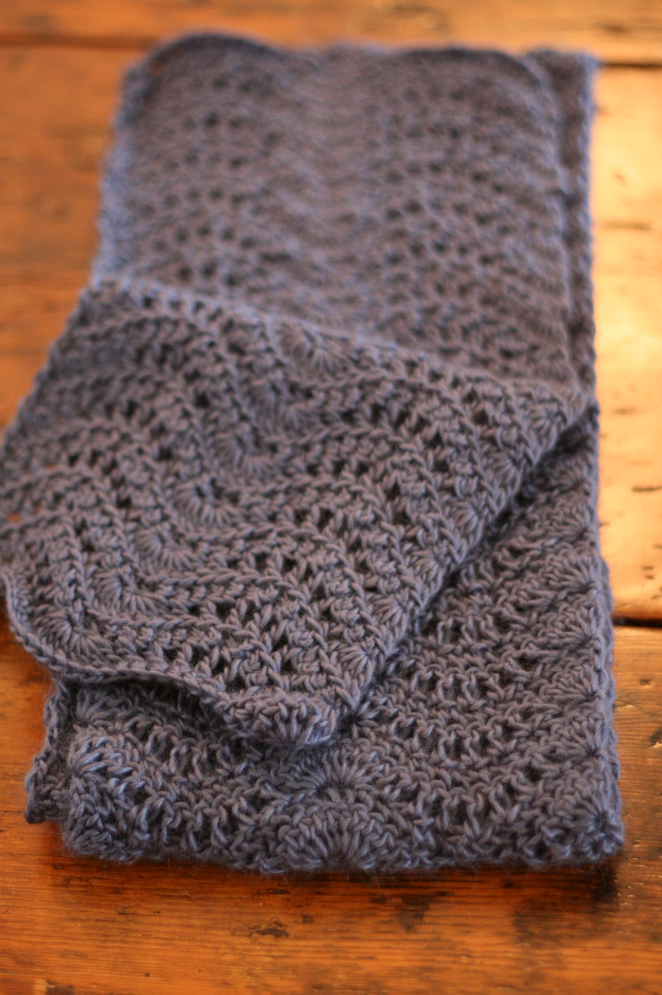 Feather And Fan Knitting Pattern Scarf : Lustra Feather and Fan Scarf   No Needle Knitting