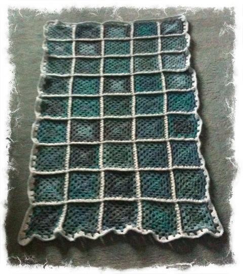 Granny square lap afghan (2/3)