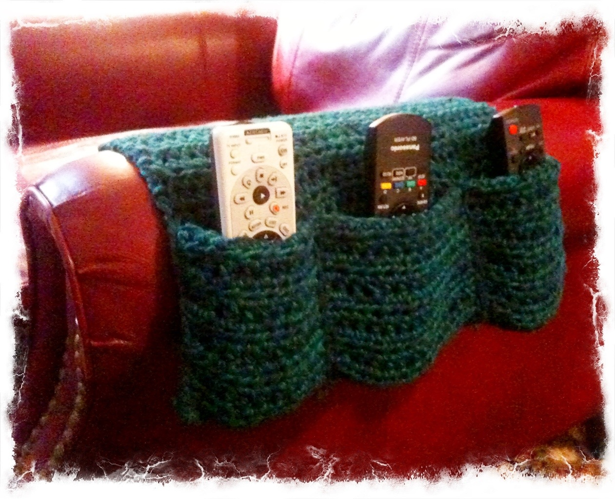Arm Chair Remote Caddy No Needle Knitting