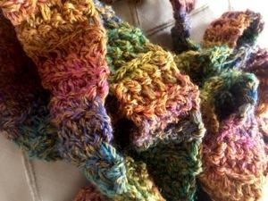 Colorful skinny scarf (1/2)