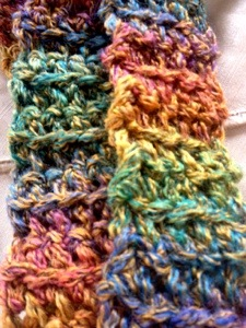 Colorful skinny scarf (2/2)