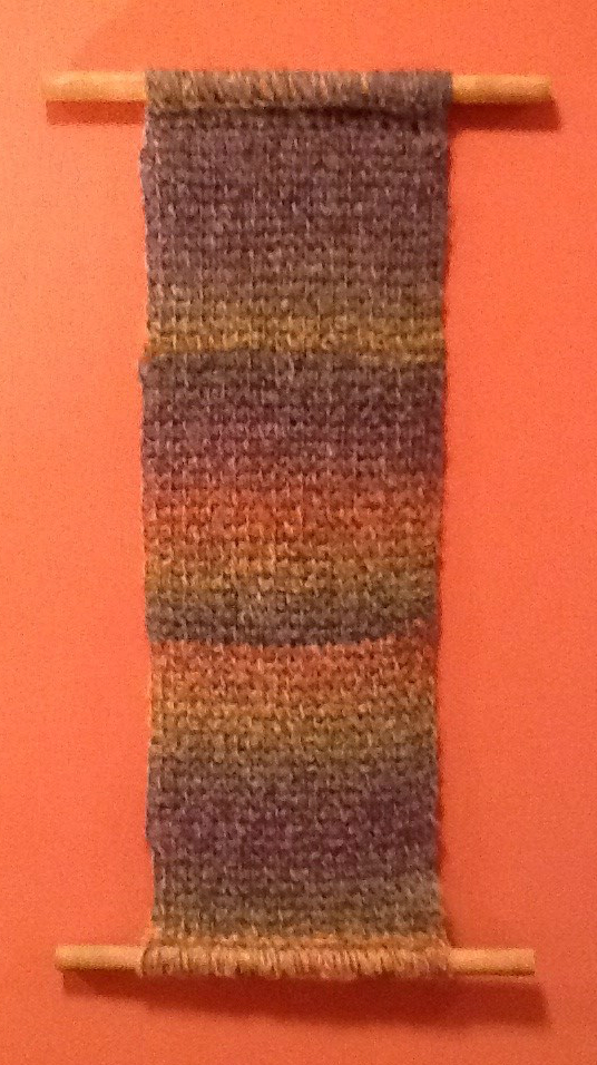 Tunisian Crochet Wall Hanging - No Needle Knitting