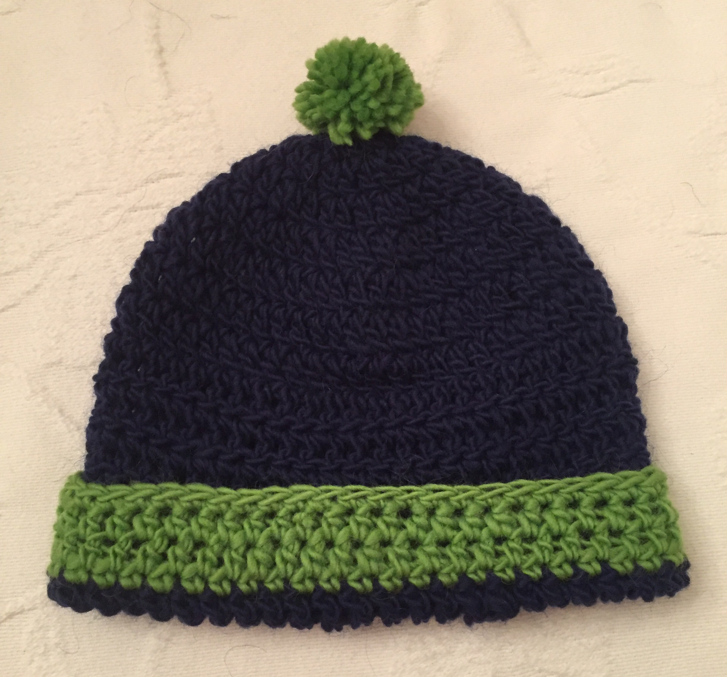 Seattle Seahawks Hat For 2 Year Old No Needle Knitting