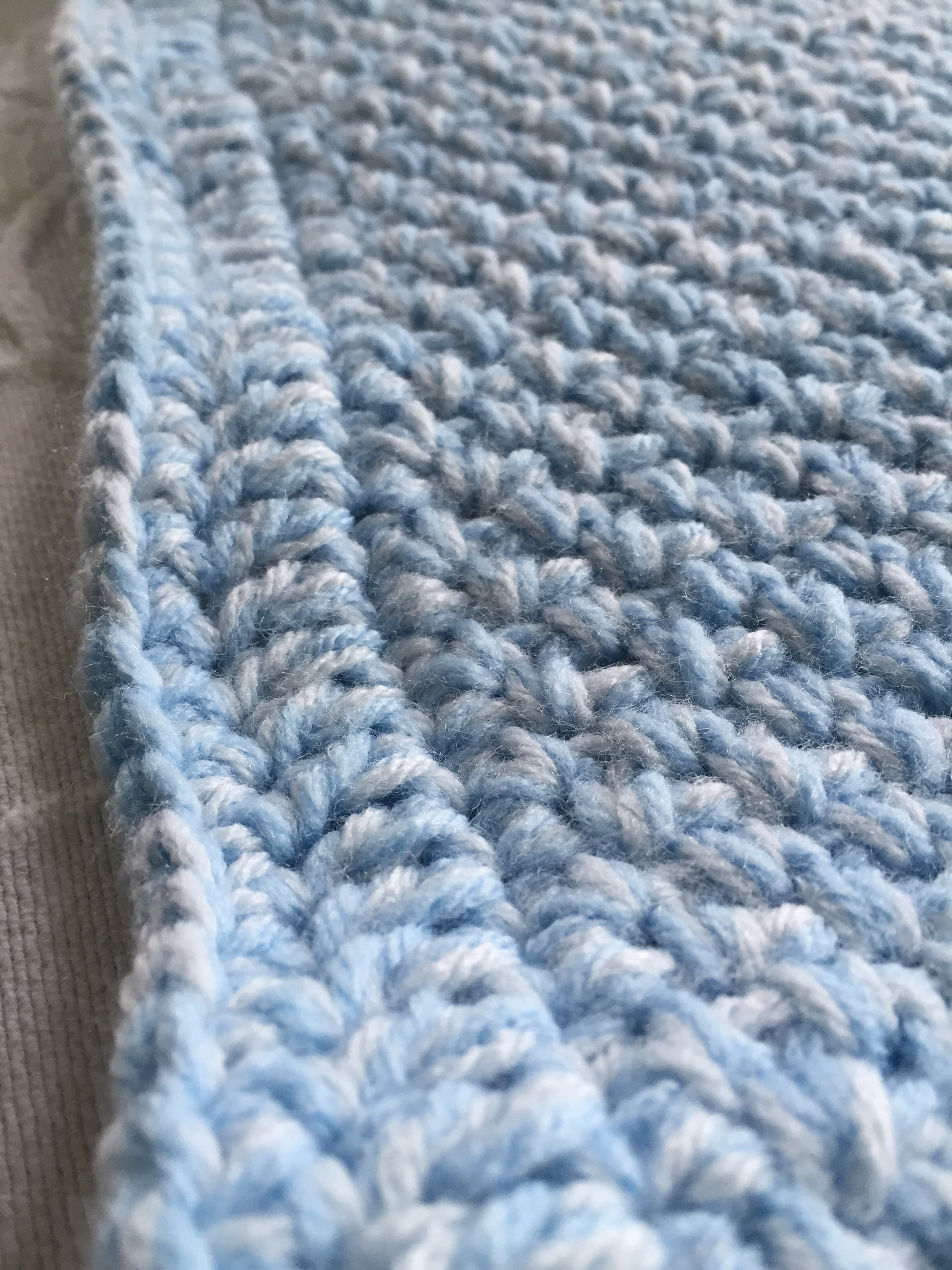 Knitting Needles No : Baby blanket no needle knitting